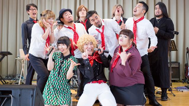 ゴスペルチーム、バンドメンバー、役者チームで構成する多彩な出演者